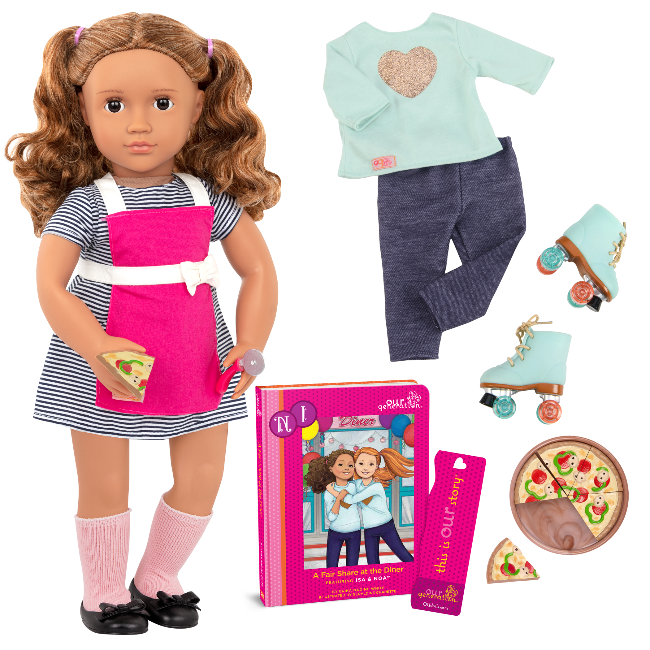 Isa Deluxe Doll with Diner Accessories