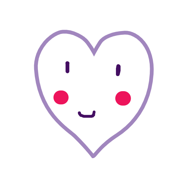 Moon cute heart reagan n
